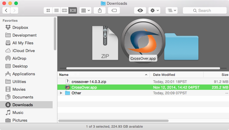 Uncompressed App in Folder